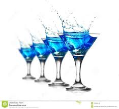 cocktail splash blue curacao cocktail with splash stock photo image 27894410
