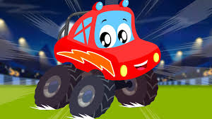 monster truck videos for toddlers little red car rhymes we are the monster trucks little red car