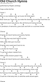 songs with chords church hymns