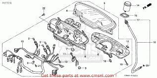 honda sfx honda sfx50 1995 s spain meter schematic partsfiche