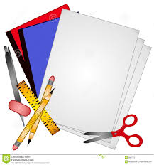 paper clipart papers pencil and in color paper clipart
