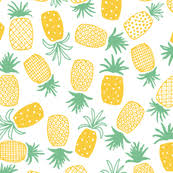 pineapple wrapping paper pineapple fabric wallpaper gift wrap spoonflower