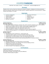 Resume Warehouse Resume Supervisor Sample Resume