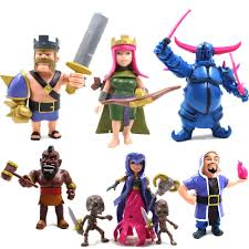clash of clans archer queen clash of clans coc super cell troops action figures set of 6