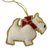 tinker tailor westie ornament