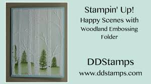 stin up happy with woodland embossing folder greeting