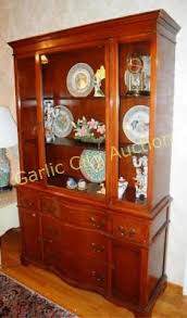 cherry wood china cabinet 1940 s cherry wood china cabinet w center bow