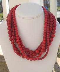 chunky jewelry necklace images Chic design red necklaces necklace jewelry statement bold uk jpg