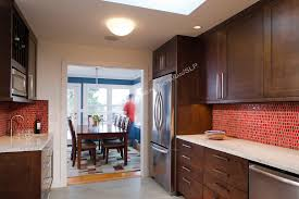 Contemporary Kitchen Backsplashes Kitchen Red Kitchen Backsplash Ideas Red Subway Tiles Backsplash