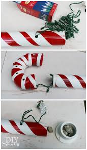 Candy Cane Lights Lighted Pvc Candy Canes Diy Christmas Home Decor Diy Show Off