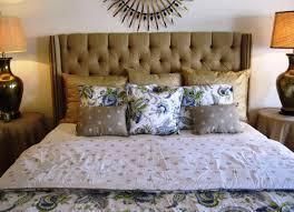 Linen Upholstered King Headboard Linen Upholstered King Headboard Doherty House Great Looking