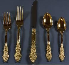 gold flatware set a stylish aspect of dining