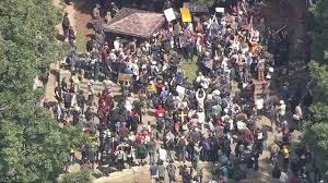 photos groups protest over ann coulter at uc berkeley abc7news com