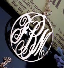 Custom Monogram Necklace Gold Custom Monogram Necklace