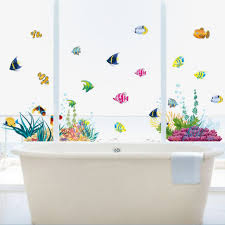 wall stickers home decor bathroom appealing kids room bathroom underwater world wall