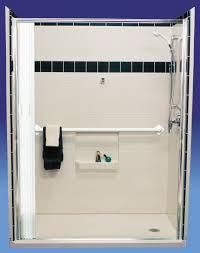 Folding Shower Doors by Barrier Free Folding Shower Doors