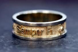 marine wedding rings 14k gold two tone marine corps wedding band 899 99