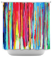 shower curtain unique from dianoche designs neon abstract contemporary shower curtains