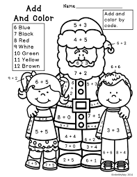 addition color by number christmas widescreen coloring addition