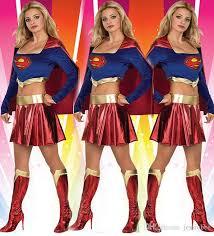 Superman Halloween Costume 2015 Ladies Dress Fancy Dress Costume Superwoman Game Uniforms