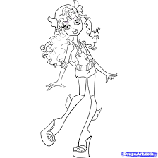 monster high lagoona coloring pages getcoloringpages com