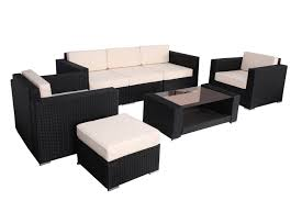 Outdoor Patio Sectional Furniture - 7pc outdoor patio sectional furniture pe wicker rattan sofa set