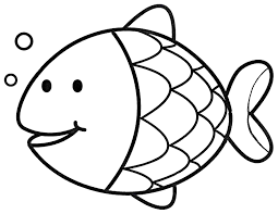 simple fish coloring page coloring home