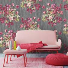 floral watercolour wallpaper by woodchip and magnolia by woodchip