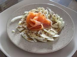 salade de fenouil cru au saumon fumé cuisine des sens