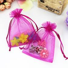 tulle bags 100pcs lot 11x16cm fuchsia organza bags christmas wedding favor