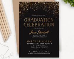 grad party invitations gold diamond graduation invitations for college or high
