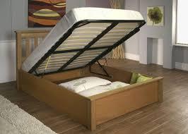 furniture wood full size platform bed frame with ample storage
