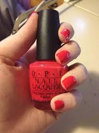 opi my chihuahua bites my red nail polish