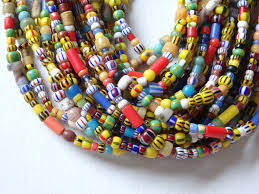 authentic african christmas beads 21 strand handmade