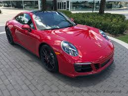 red porsche 911 2018 new porsche 911 carrera gts coupe at porsche west broward