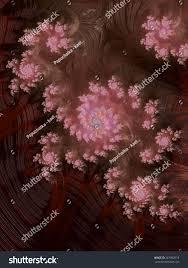 pink floral ornaments on reddish brown stock illustration
