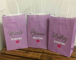 bridal shower gift bags custom ring dish party favor bridesmaid gift bridal shower