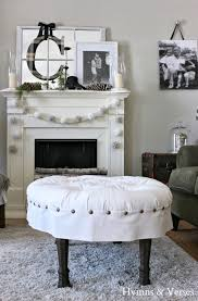 ideas for winter decor hymns and verses oval button tufted ottoman winter decor