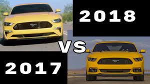 2018 ford mustang gt vs pervious 2015 2017 mustang gt youtube