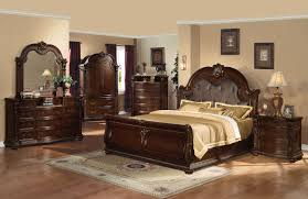 Bedroom Furniture Sets Full Size Bedroom Sets Full Size Table Lamp On Bedside Dark Brown Wooden