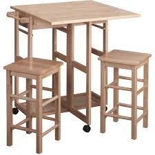 Breakfast Bar Table And Stools Spacesaver 3 Piece Square Breakfast Set Multiple Colors Walmart Com