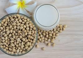cuisiner le soja frais lait de soja frais et graines organiques de soja photo stock image