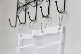 quick dry hanging caddy and bath organizer with 6 pocket hang on