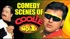 biography of movie coolie comedy scenes of coolie no 1 الحمال رقم 1 jukebox with arabic