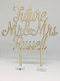 engagement cake toppers future mr mrs personalised engagement cake topper the cake guru
