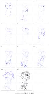 how to draw may from sid the science kid printable step by step