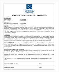 6 evacuation plan templates free sample example format download