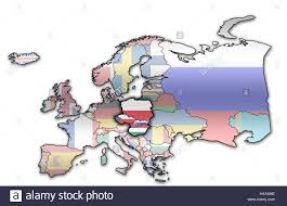 Country Map Of Europe by Political Map Of Europe With Flags Of Memeber Countries Of