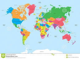 The World Political Map by Colorful World Political Map With Labeling Stock Illustration