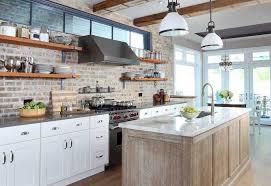 kitchen backsplash tile brick pattern with faux brick kitchen